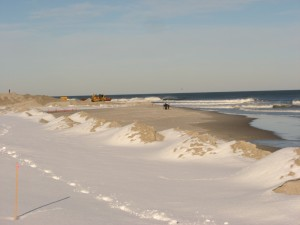 Harvey Cedars beach replenishment work in progress