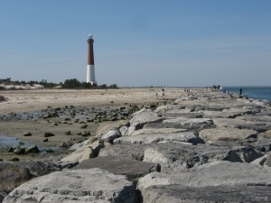 LBI Barnegat Lighthouse view from jetty