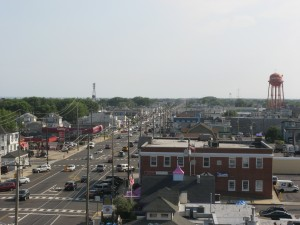 LBI view from Fantasy Island ferris wheel looking south in Beach Haven